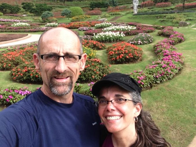 Enjoying beautiful gardens