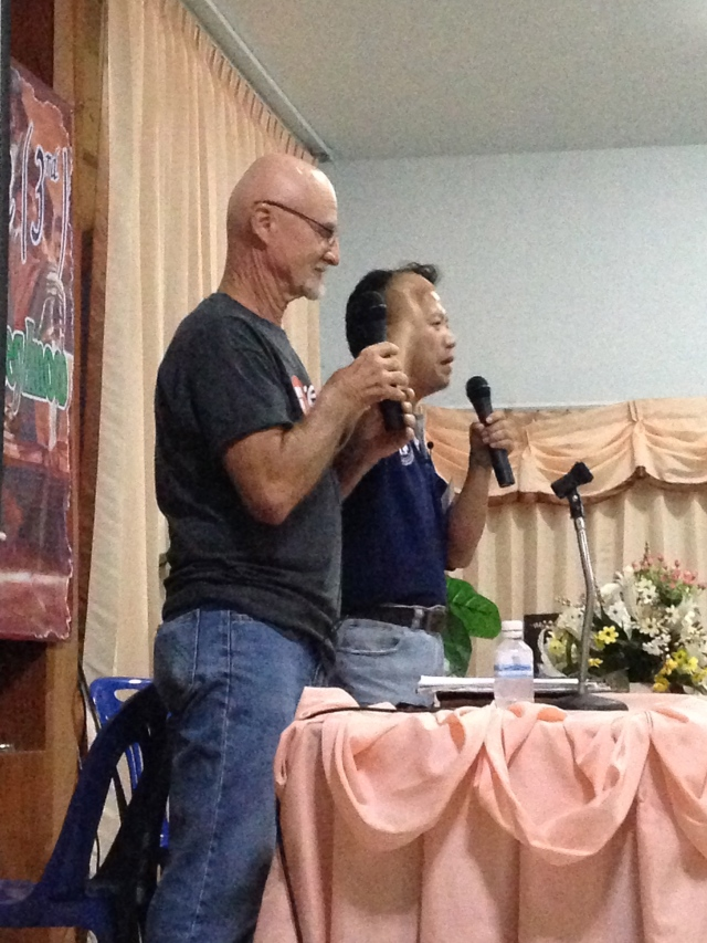 This is Ron Miller teaching the first night. Ron leads the Baan Immanuel ministries